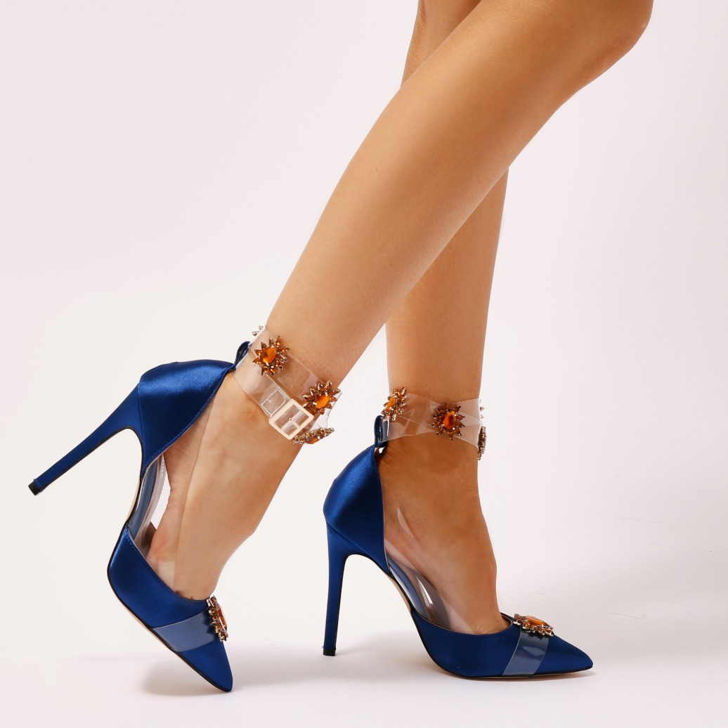 6ff85646836 Public Desire Womens Camly Embellished Perspex Court Heels Stiletto ...