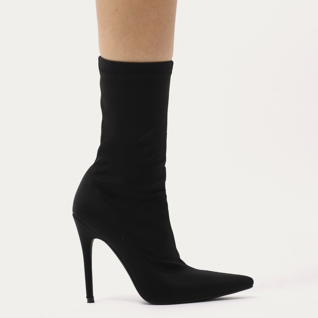 Public Desire Womens Direct Pointy Sock Sock Sock Fit Boots Stiletto Heel Velvet shoes c2397a