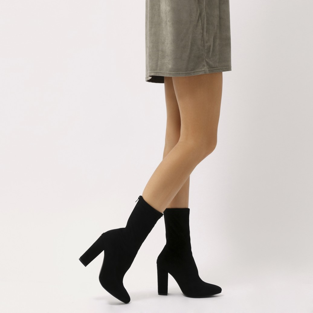 df56a36c9e27 We re still going sock fit cray at PD. These block heeled ankle boots  featuring stretchy fit