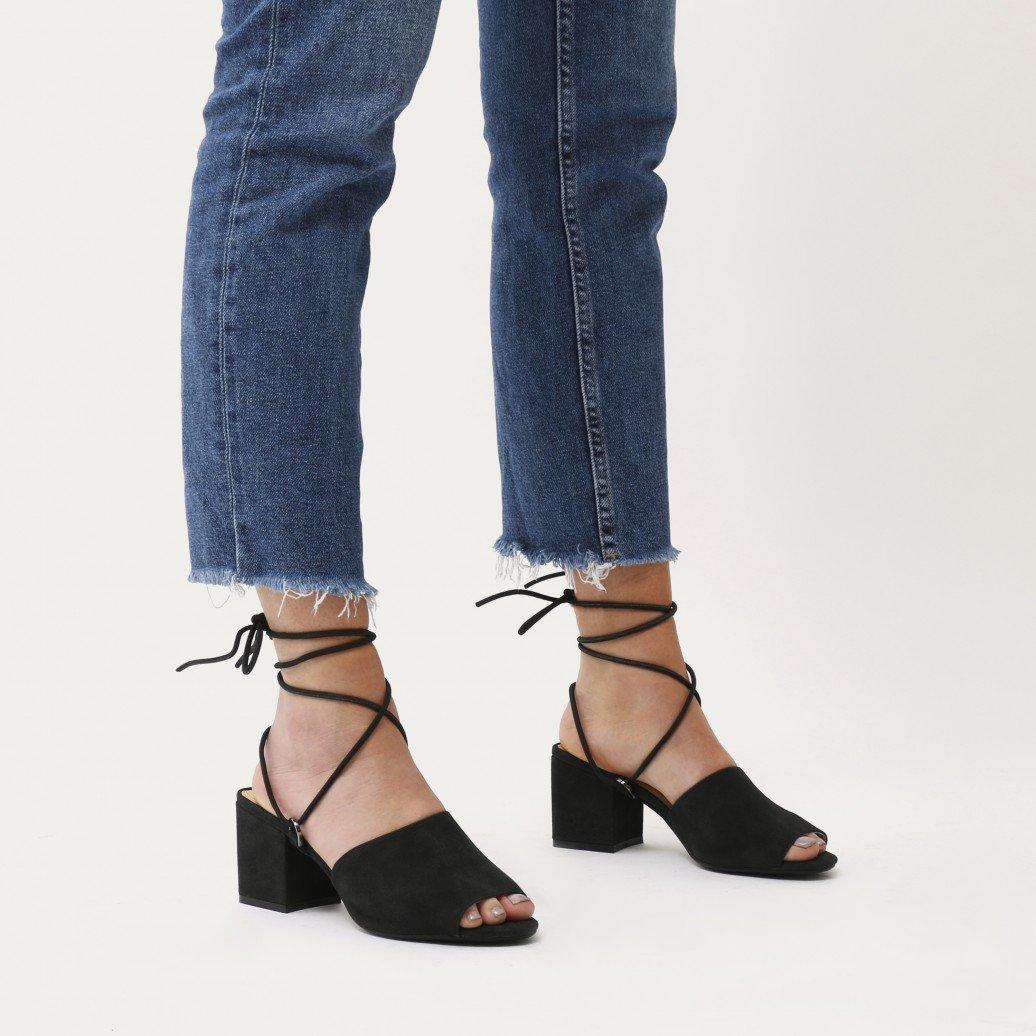 61ebf1e5b Public Desire Womens Paddington Lace Up Low Block Heeled Mules Shoes ...