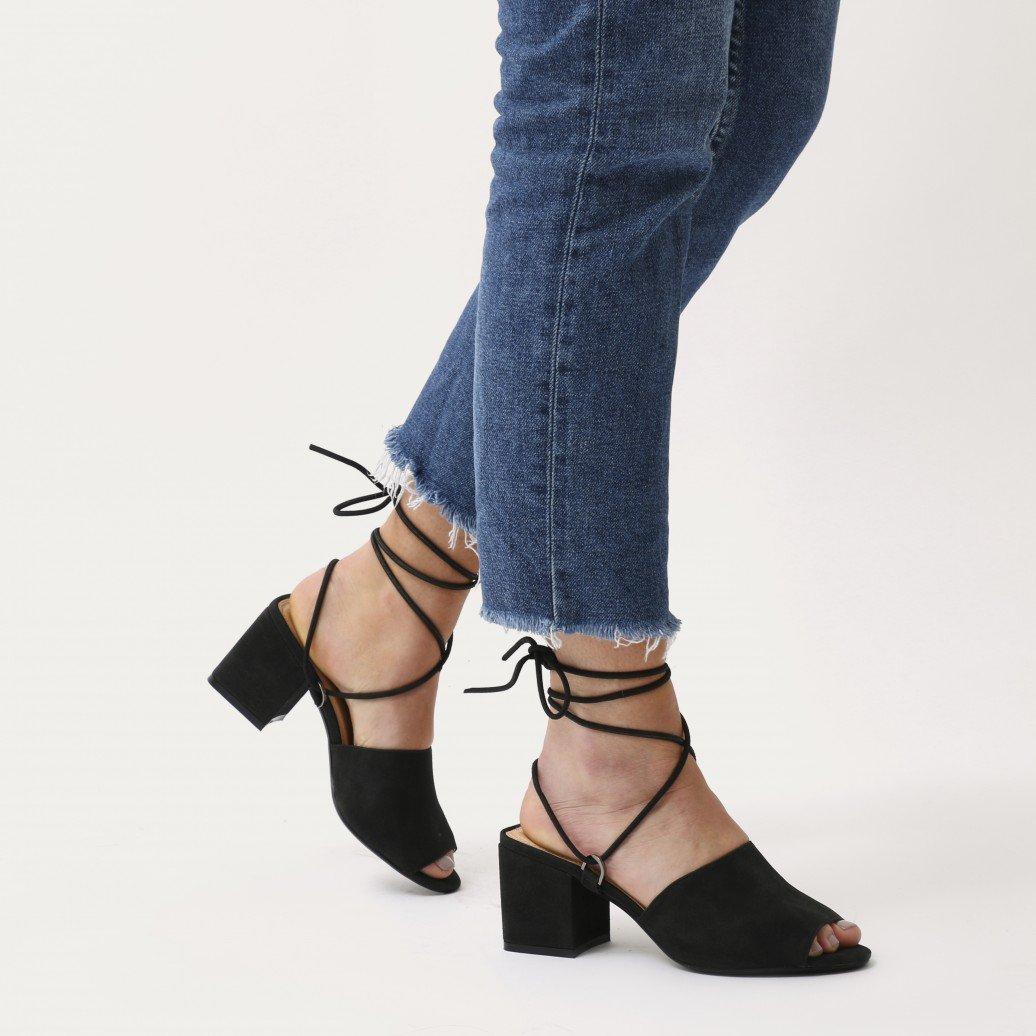 14930c49a Details about Public Desire Womens Paddington Lace Up Low Block Heeled Mules  Shoes