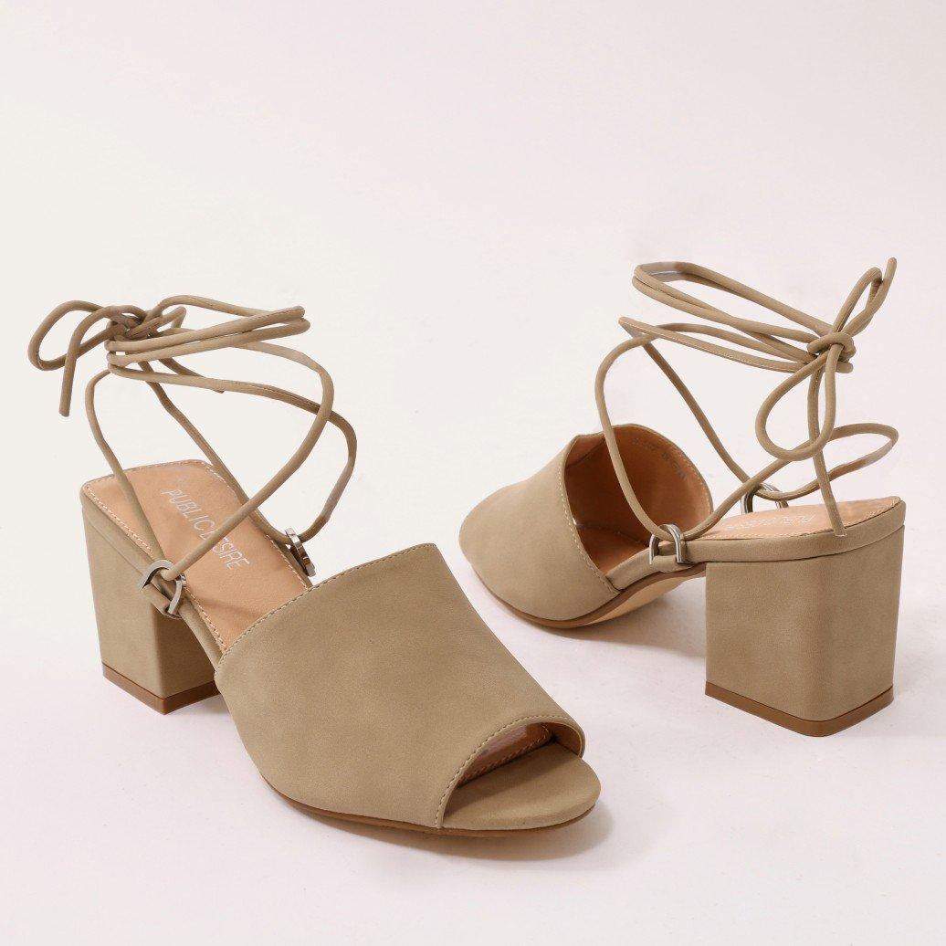 52f56d9022c Details about Public Desire Womens Paddington Lace Up Low Block Heeled  Mules Shoes