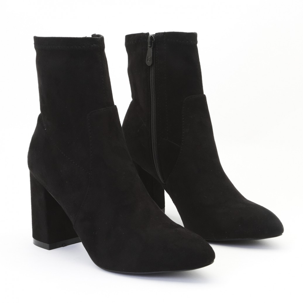 29d7c70cc91 Public Desire Womens Raya Pointed Toe Ankle Boots Sock Fit Block ...